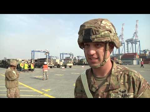 497th CSSB Arrives In Europe, PVT Stephen McGill Interview