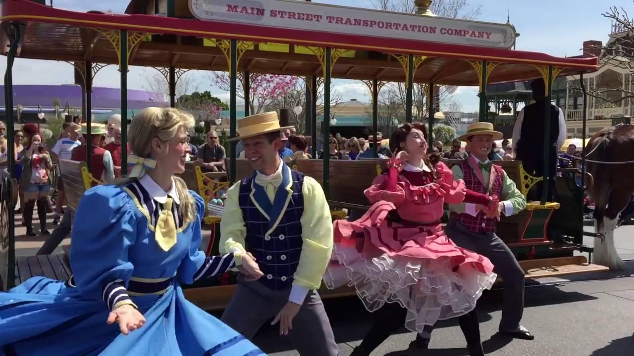 Main Street USA Trolley Singers at Magic Kingdom inside Walt Disney World