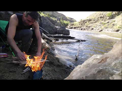 🐶Cooking Bacon On A River With A Dog🐶 Camping & Backpacking Gear VLOG