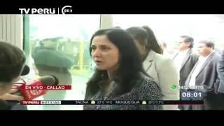 Nadine Heredia llegó al Perú Canal 7