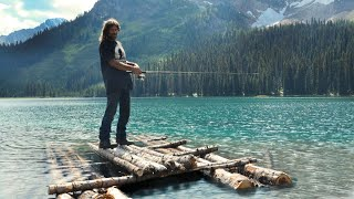 Bushcraft Raft Fishing - Day 27 amp 28 of 30 Day Survival Challenge Canadian Rockies