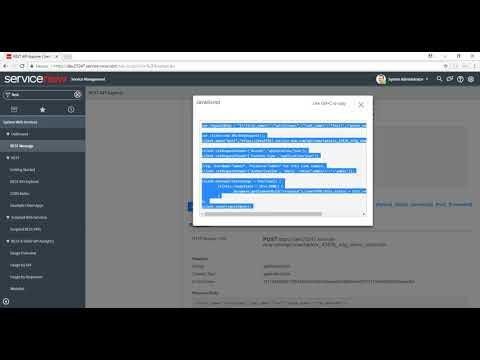 Servicenow Inbound Web Service - RESTful