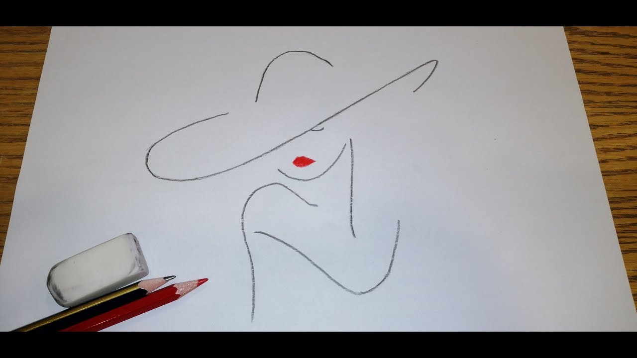 How To Draw A Girl Easy Step By Step Drawing Tutorial Easy Youtube