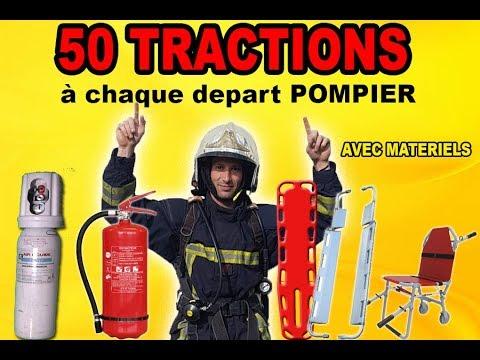 DEFI POMPIER 50 tractions à chaque depart + materiels