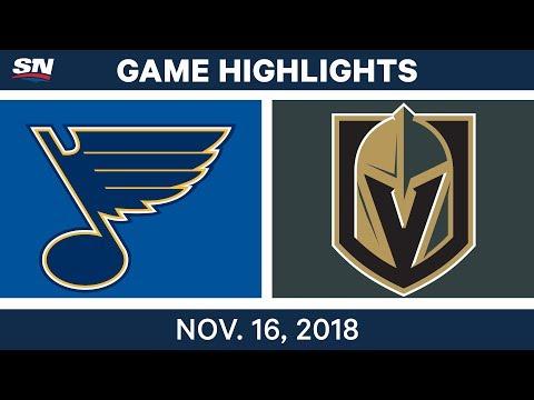 NHL Highlights | Blues vs. Golden Knights – Nov. 16, 2018