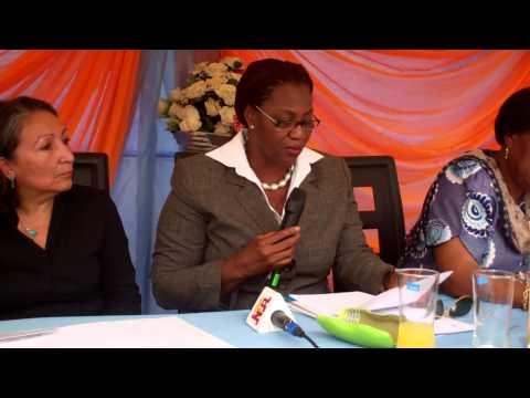 UNFPA Representative during medical equiptment handover ceremony at Lagos for NPHDA