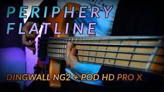 PERIPHERY - FLATLINE (Bass Cover) // Dingwall NG2 + Line 6 Pod HD Pro X // DJENT BASS TONE