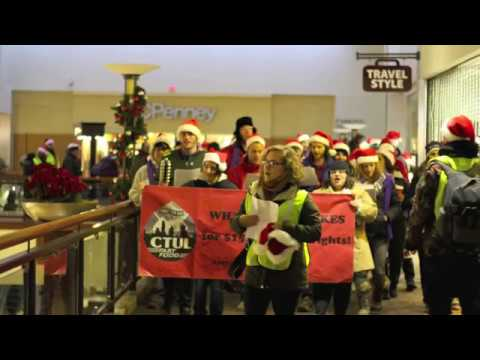 CTUL: Peaceful carolers assaulted after calling for Responsible Contractor Policy at Kohl's