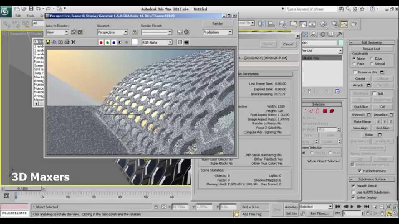 How to create architectural hexagon skin modeling in 3ds for 3ds max architectural modeling tutorials pdf