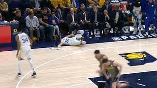 Stephen Curry Falls Down From the Bench - Shaqtin' A Fool - Warriors vs Pacers | Jan 28, 2019