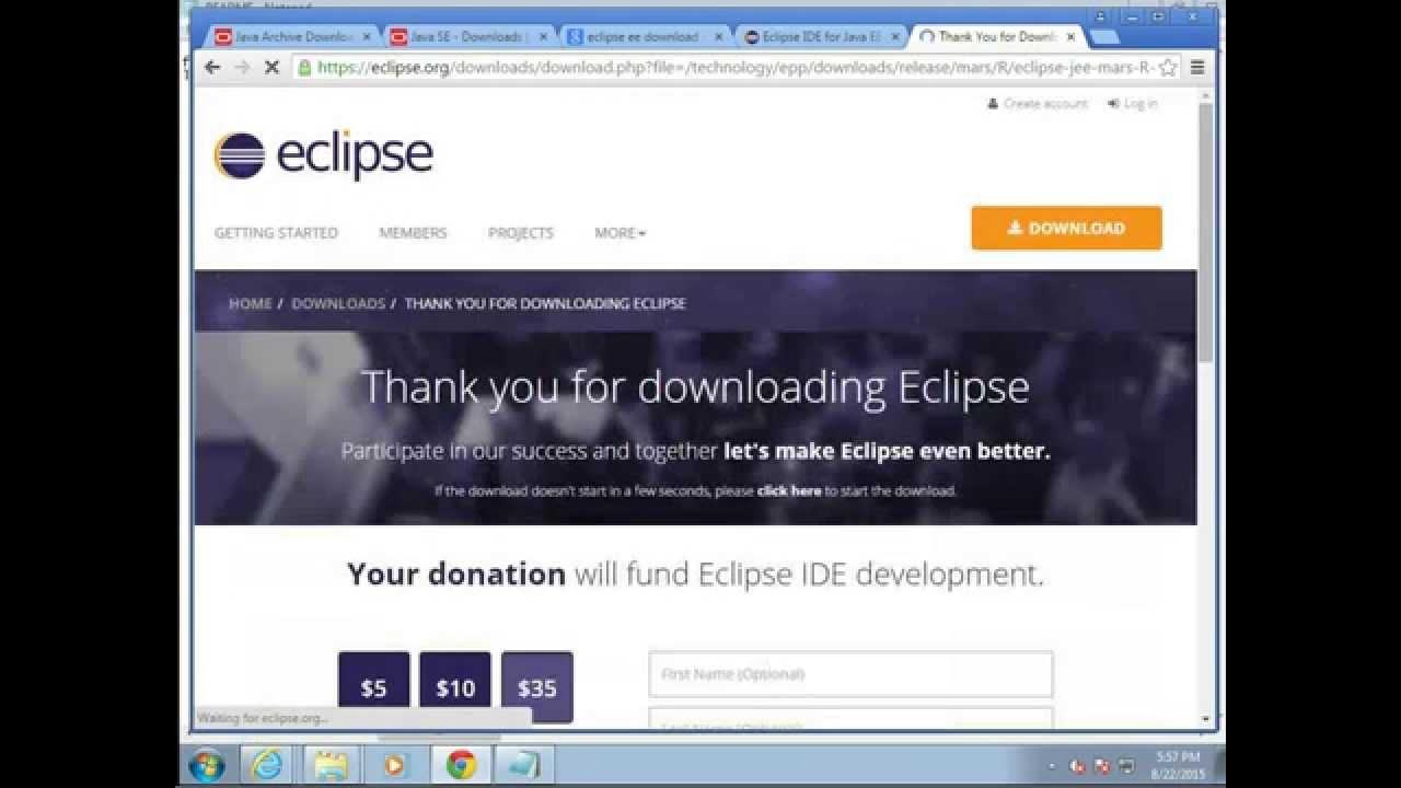 install eclipse java virtual machine
