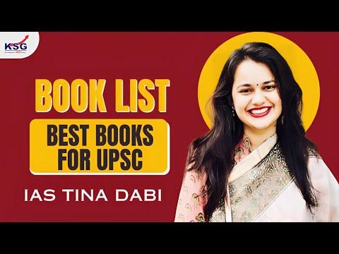 Book List, Tina Dabi, IAS, KSG Jaipur, KSG India