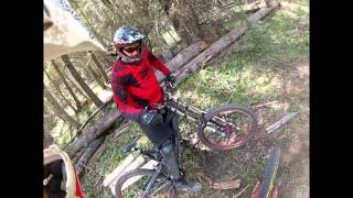 NM DH MTB : Angel Fire Bike Park : Chutes and Ladders section 1 and 2