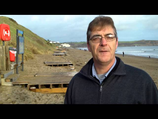 Shane Supple reports on the damage to the The Boardwalk in Youghal