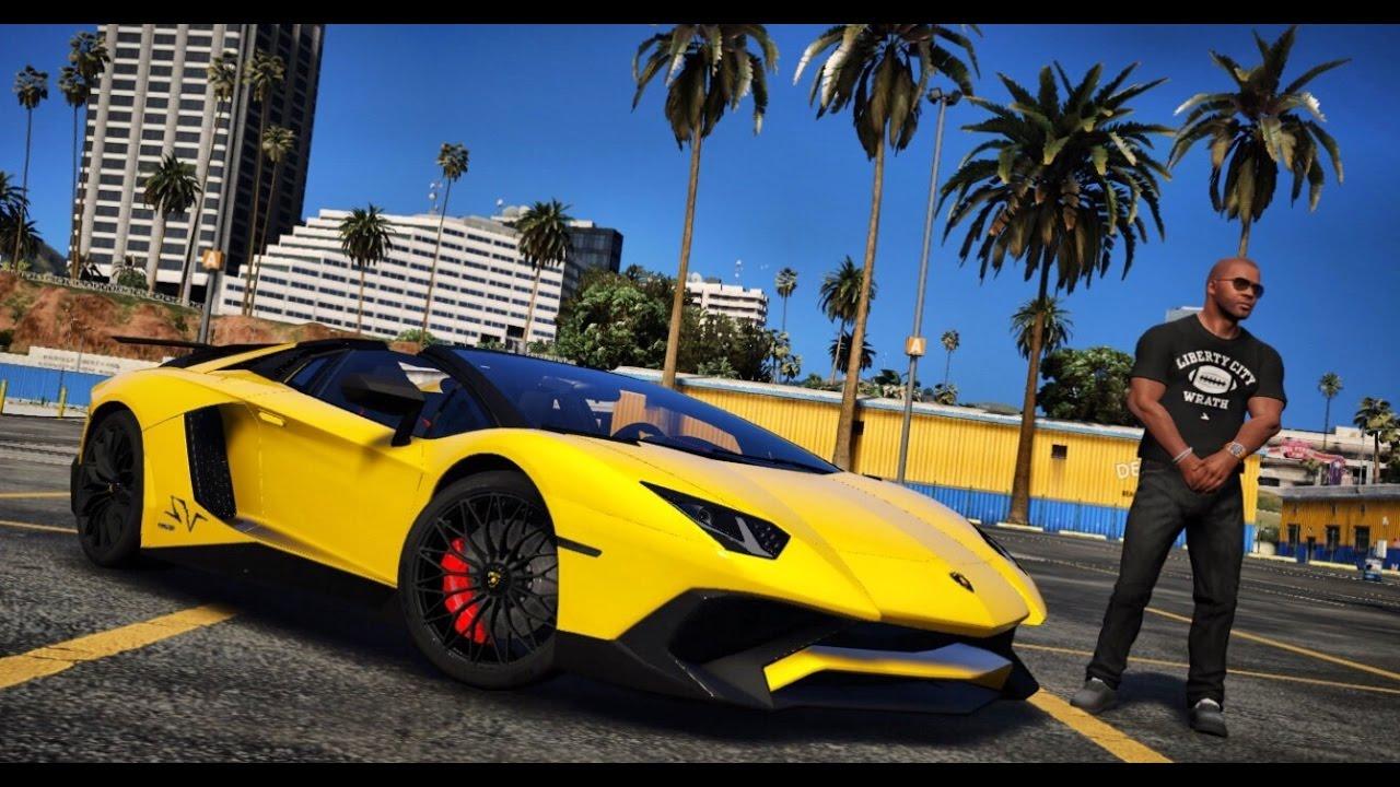 Gta 5 Mod Real Life Engine Sound Mod Lamborghini Aventador Sv 2016 Enb Redux Gta V