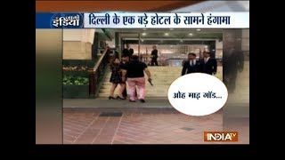 Man with gun threatens friend at a five star hotel in Delhi