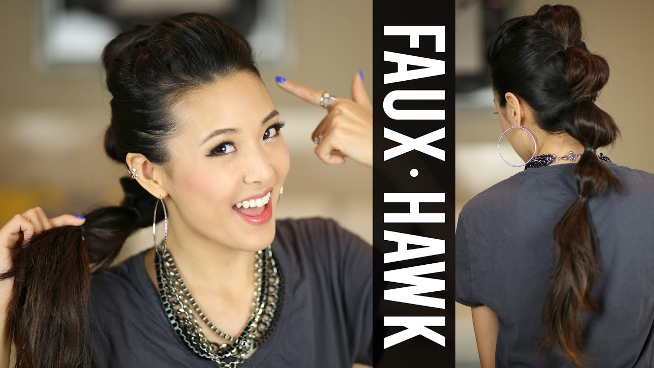 Going Out Hair Ponytail Fauxhawk Tutorial Youtube