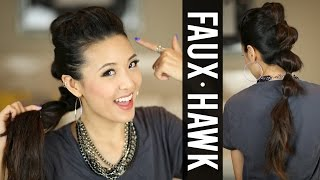 Going Out HAIR Ponytail Fauxhawk Tutorial Thumbnail