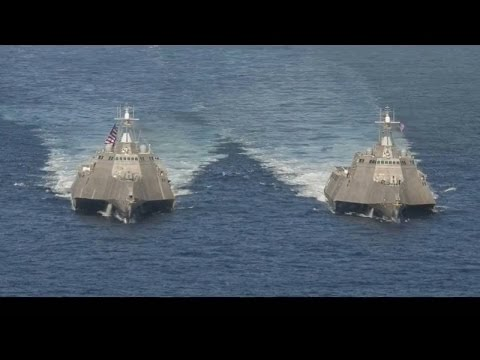 USS Independence LCS 2 0001 Vs South China Sea