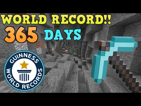 Digging in a Straight Line in MINECRAFT FOR 1 YEAR (World Record)