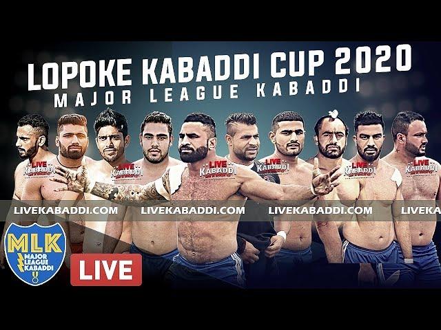 LIVE - Lopoke (Amritsar) Major League Kabaddi Cup 2020