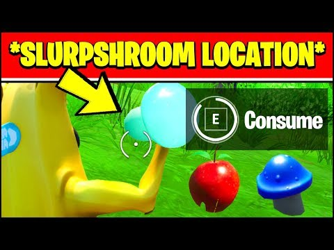 CONSUME AN APPLE, A MUSHROOM, AND A SLURPSHROOM LOCATIONS (Fortnite Cameo Vs Chic Challenges)