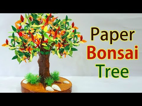 Amazing! Easy Bonsai DIY Paper Tree Tutorial | Best Out of Waste Craft