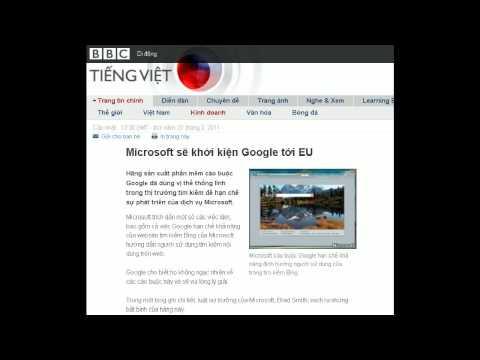 31-03-2011 - BBC Vietnamese - Microsoft sẽ khởi kiện Google tới EU