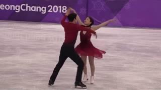 2018 Winter Olympics figure skating Ice dance Free : USA (SHIBUTANI Maia / SHIBUTANI Alex) (4K)