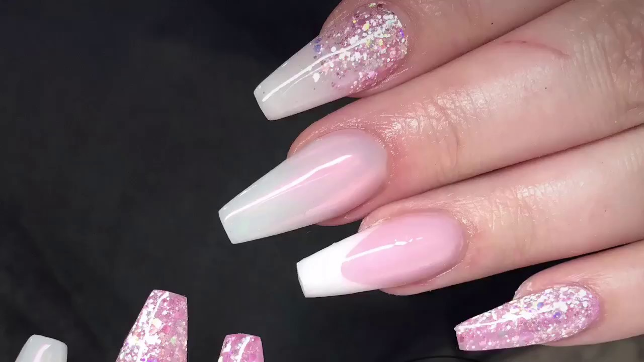 Pretty Pink Nails | Acrylic Nails - YouTube