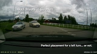 Bad Drivers in Sweden #68 Summer and agressions.. heat strokes?