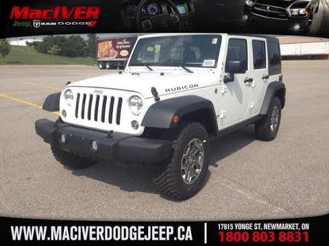 jeep wrangler 2015 white. 2015 white jeep wrangler unlimited rubicon newmarket ontario maciver dodge youtube