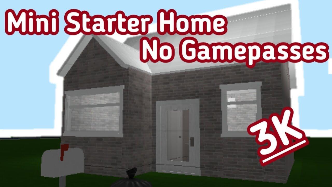 Mini Starter House 3k No Gamepasses Bloxburg Its