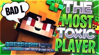 THE MOST TOXIC SKYWARS PLAYER... (Hypixel Skywars Trolling)
