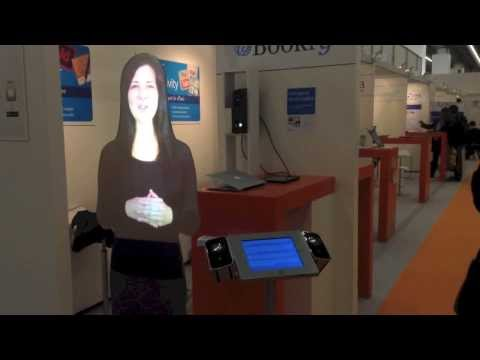 Virtual Mannequin at the Frankfurt Book Fair 13 (Controlled via an eBook made with iBooks Author)