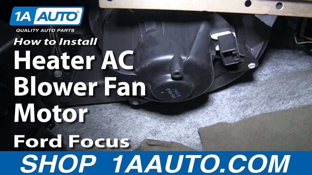 hight resolution of how to install replace heater ac blower fan motor 2000 07 ford focus rh youtube com electric blower motor wiring diagram ac blower motor wiring diagram