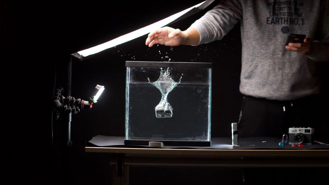 ONDER WATER product shoot met een AQUARIUM