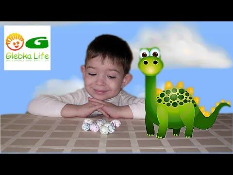 Яйца динозавров. Выращиваем динозавров из яиц. Dinosaur eggs. We grow from eggs of dinosaurs.