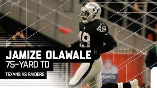 Derek Carr Hits Jamize Olawale for a 75-Yard TD!   Texans vs. Raiders   NFL International