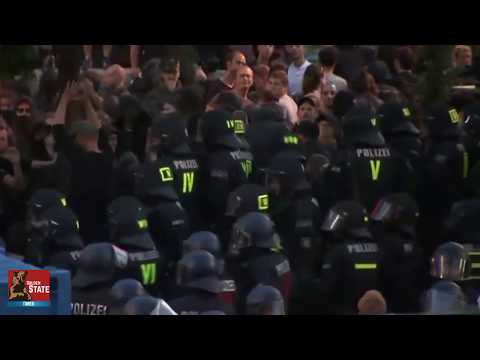 German Police DESTROYS ANTIFA thugs at Hamsburg Germany G20 Protest