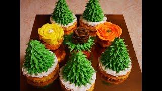 НОВОГОДНИЕ ЁЛОЧКИ кексы пирожные РЕЦЕПТ красота на НОВОГОДНИЙ стол ВКУСНАЯ , АРОМАТНАЯ выпечка