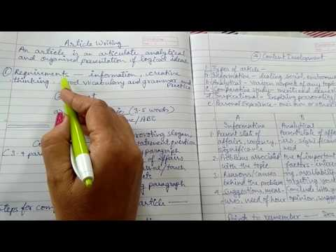 How to write an effective article for class 9 - 12 (article