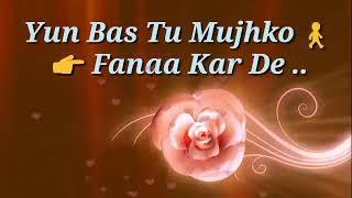 Ishq sufiyana ! mere dil ko khuda se juda kar de ! whatsapp status
