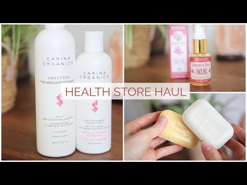 HEALTH FOOD STORE HAUL | Natural Skin Care & More