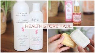 HEALTH FOOD STORE HAUL | Natural Skin Care & More