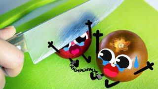 Cute Food Doodles Compilation 🍅🔪🍎 #19