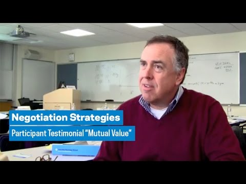 "Negotiation Strategies: Participant Testimonial ""Mutual Value"""