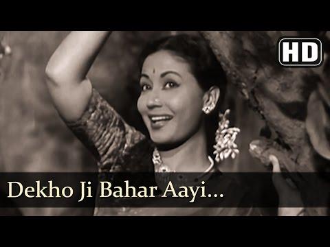 Dekho Jee Bahaar Aayee (HD) - Azaad Songs - Meena Kumari - Filmigaane