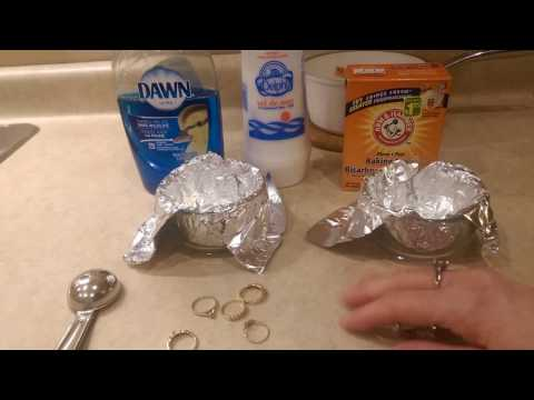 How to clean Sterling Silver & gold  Jewelry ~ Quick, Cheap & Easy!