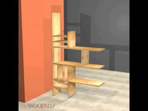 Woodself: How to build a room divider bookshelf